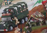 Конструктор Военный грузовик+ палаточная база