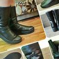 Новые кожаные сапоги, бу